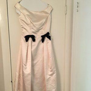Vintage Watters & Watters Pale Pink Satin Gown
